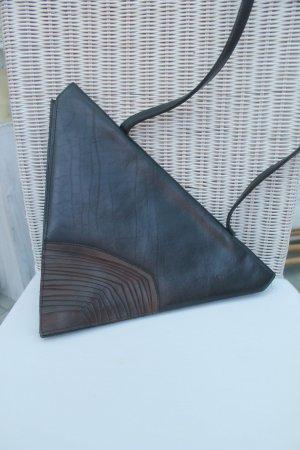 super Tasche in ausgefallener Form * Leder * Vintage * sehr guter Zustand *