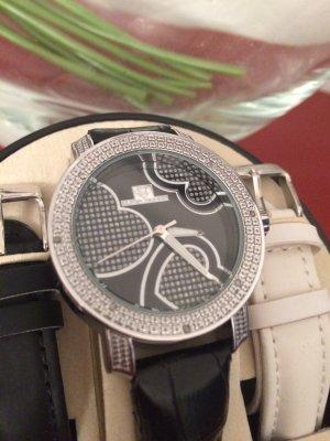 Super Techno Armbanduhr mit Diamanten besetzt-0.10 CT