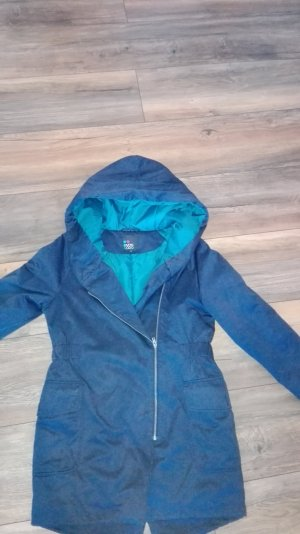 super warmer parka in blau