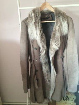 Super warmer und schöner Luxus-Lammfell-Mantel von Set