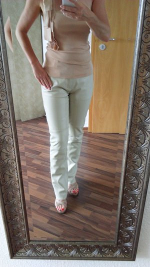 Edc Esprit Pantalon en cuir beige clair