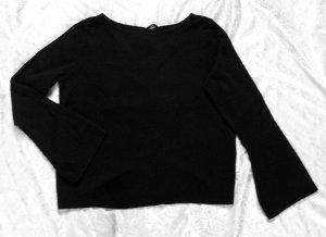 Super weicher Pullover von ONLY, schwarz,sehr raffinierter Rücken, Größe M