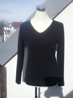 Atmosphere Jersey con cuello de pico negro tejido mezclado