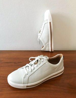 ◉ Superbequeme neue weiße Leder Sneakers ◉