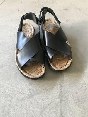 Camper Sandalias cómodas negro-marrón claro