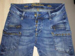 Glücksstern Tube Jeans multicolored cotton