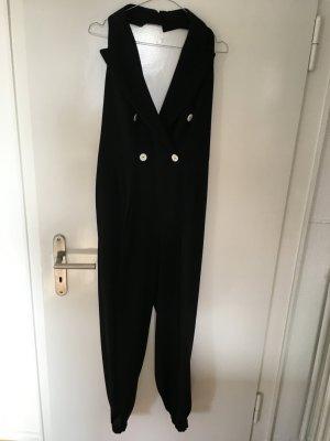 Falda pantalón de pernera ancha negro