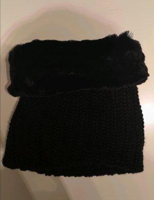 Tubesjaal zwart-antraciet