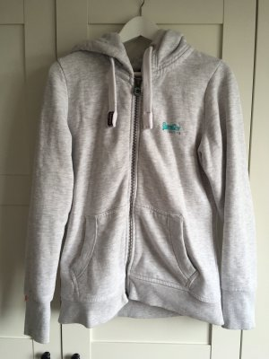 Superdry Veste sweat gris clair