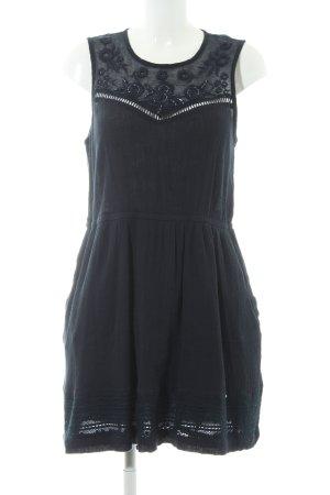 Superdry A-Linien Kleid dunkelblau Blumenmuster Perlenverzierung
