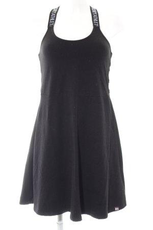 Superdry A-Linien Kleid schwarz-weiß Skater-Look
