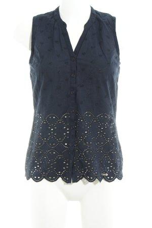 Superdry ärmellose Bluse dunkelblau Blumenmuster Romantik-Look