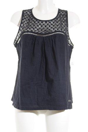 Superdry ärmellose Bluse dunkelblau Casual-Look