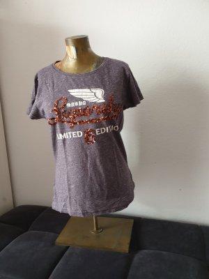 Superdry Camicia viola-grigio