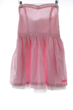 Superdry Bandeaukleid rosa-weiß Streifenmuster Elegant