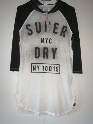 Superdry Shirt met capuchon zwart-wit