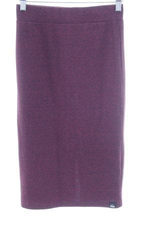 Superdry Bleistiftrock purpur-brombeerrot meliert Casual-Look