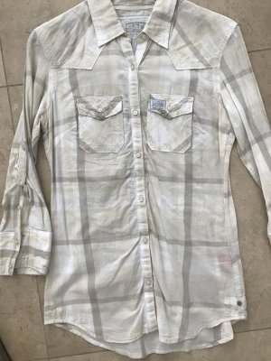 Superdry Camisa de manga larga beige claro-azul pálido
