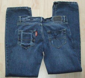 Superdry Boyfriend Jeans blue cotton