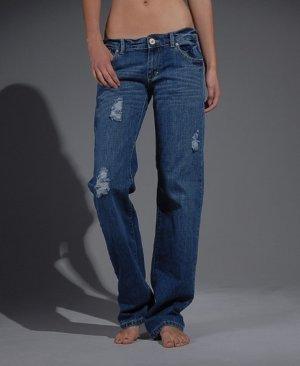 Superdry Boyfriend Jeans dark blue-blue