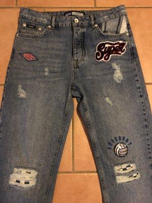 Superdry Boyfriend jeans blauw