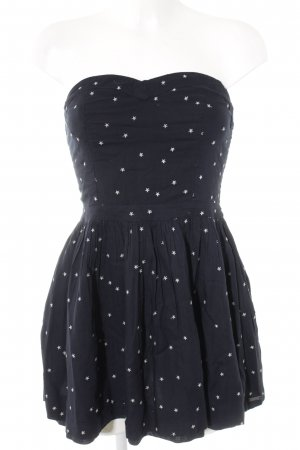 Superdry Bustier Dress silver-colored-dark blue star pattern party style