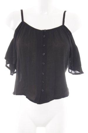Superdry Carmenshirt schwarz Casual-Look