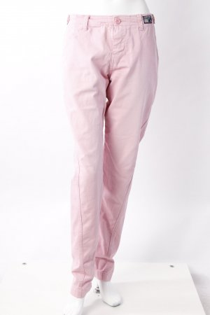 Superdry Chinohose rosa