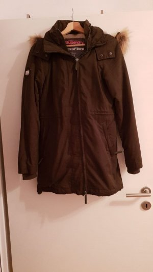 Superdry Giacca lunga verde scuro