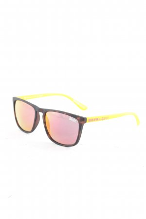 Superdry eckige Sonnenbrille orange-taupe Casual-Look