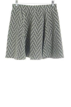 Superdry Plooirok zwart-wolwit zigzag patroon casual uitstraling