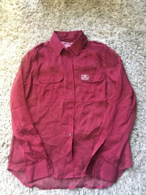 Superdry Transparante blouse donkerrood