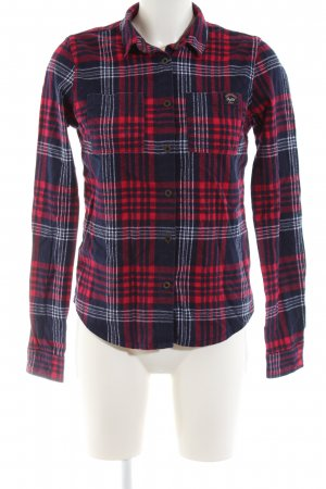 Superdry Flannel Shirt red-blue allover print casual look