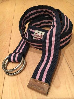 Superdry Gürtel aus Stoff in rosa blau