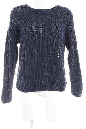 Superdry Pullover all'uncinetto blu scuro Motivo a maglia leggera stile casual