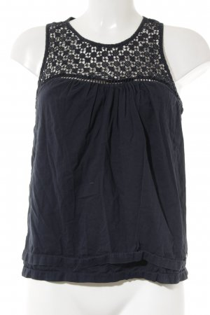 Superdry Crochet Top dark blue loosely knitted pattern beach look