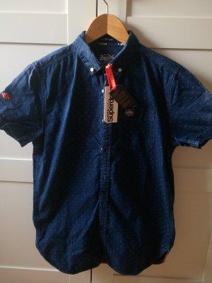 Superdry Shirt met korte mouwen donkerblauw