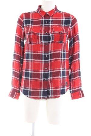 Superdry Chemise de bûcheron rouge-noir motif à carreaux style décontracté
