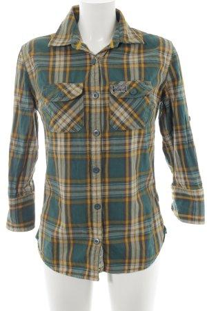 Superdry Camisa de leñador estampado a cuadros estilo boyfriend