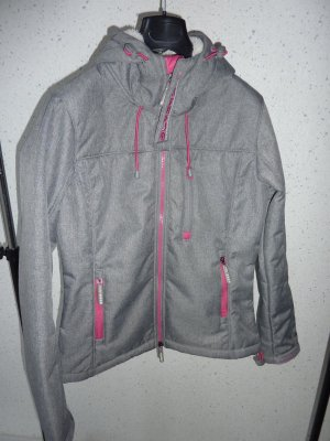 Superdry Hooded Windtrekker-Jacke Größe M Light Grey Marl