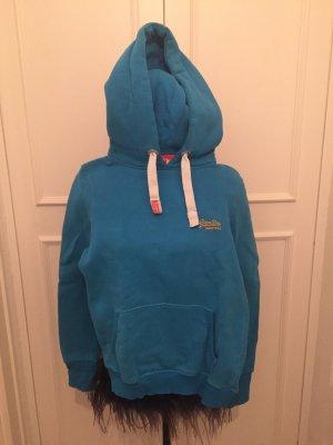 SuperDry Hoodie blau Größe S