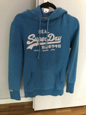 Superdry Capuchon sweater korenblauw