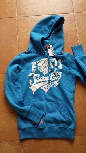 Superdry Hoodie Kapuzenpullover Pullover Blau Größe xs s 34 36