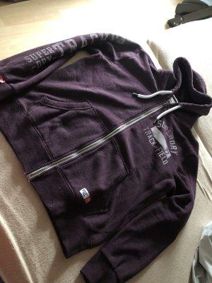 Superdry hoodie lila kaputzenjacke Gr.XL