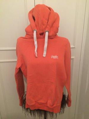 SuperDry Hoodie orange in Größe S