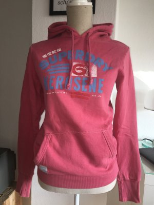 Superdry Hoody Sweatshirt Pullover Koralle Gr. S 34 36 rot