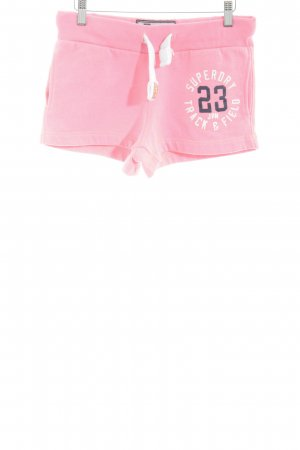 Superdry Hot Pants pink printed lettering casual look