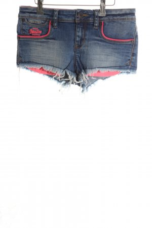Superdry Hot Pants blue-pink casual look
