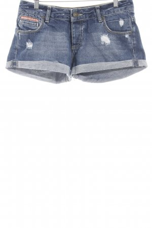 Superdry Hot Pants stahlblau Casual-Look