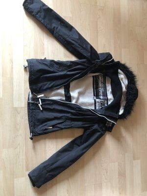Superdry Chaqueta con capucha negro